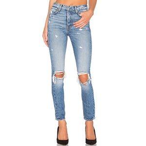 NEW GRLFRND Karolina High Rise Distressed Jeans